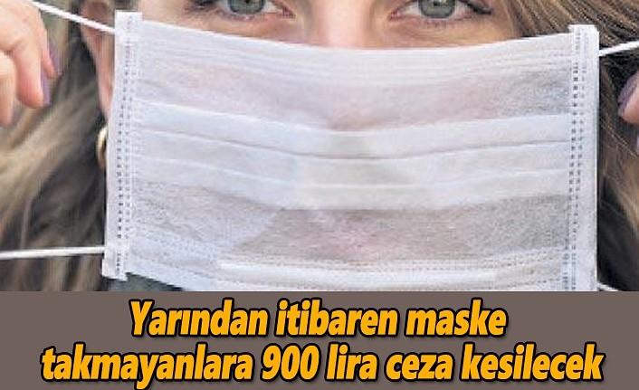 Samsun'da maske takmayanlara 900 lira ceza kesilecek!