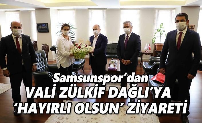 Samsunspor'dan Vali Zükif Dağlı'ya 'hayırlı olsun' ziyaret