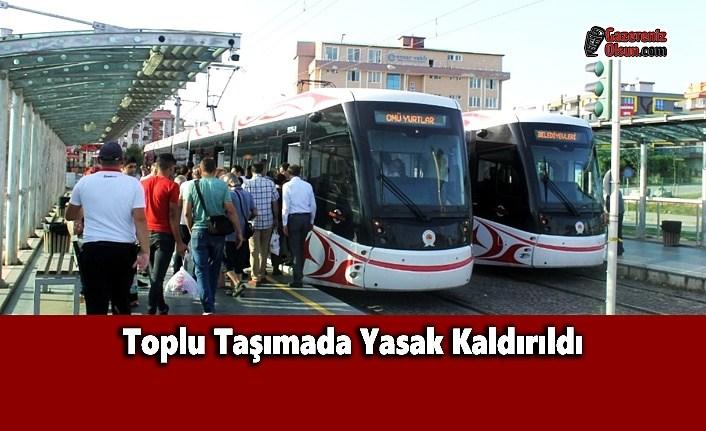 Toplu Taşımada Yasak Kaldırıldı