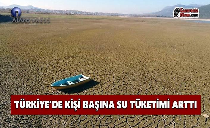 Türkiye'de Kişi Başı Su Tüketimi Arttı