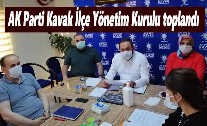 AK Parti Kavak İlçe Yönetim Kurulu toplandı