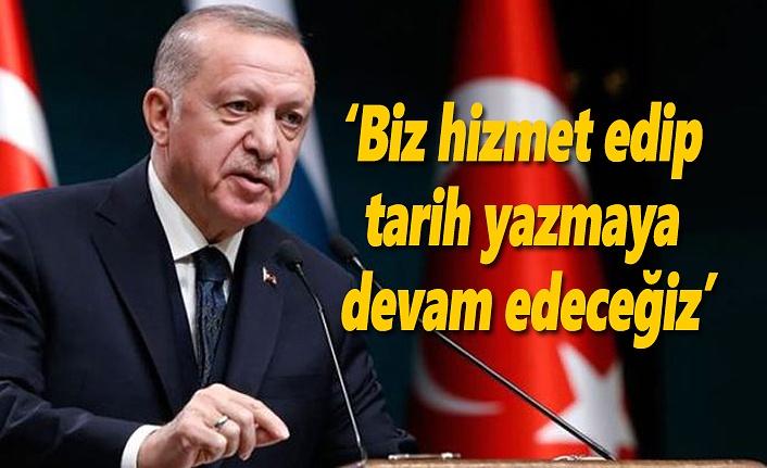 Cumhurbaşkanı Erdoğan: Onlar dizi izleyip film çeviredursun...