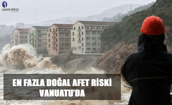 En fazla doğal afet riski Vanuatu'da