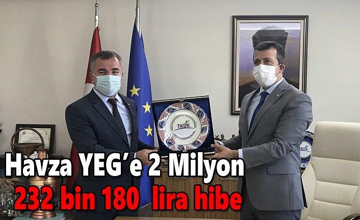 Havza YEG'e 2 Milyon 232 bin 180  lira hibe