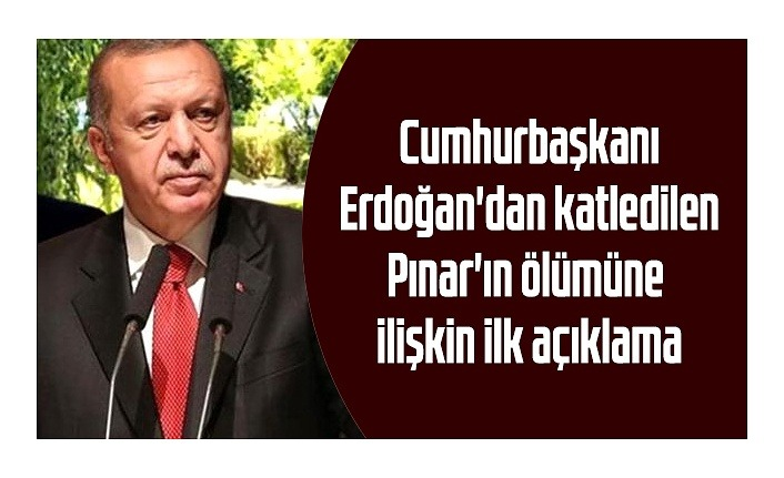 Pınar Gültekin katliamına Cumhurbaşkanı Erdoğan'dan açıklama