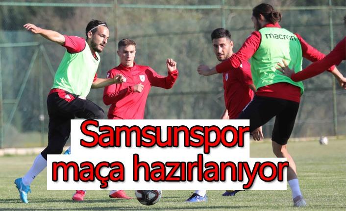 Samsunspor maça hazırlanıyor