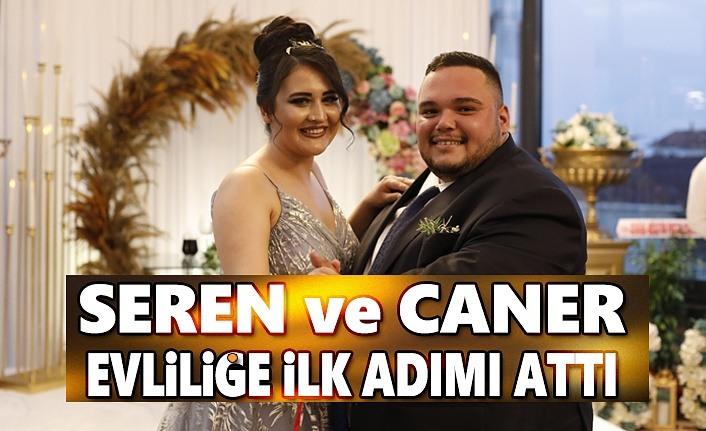 Seren ve Caner mutluluğa ilk adımı atarak nişanladı