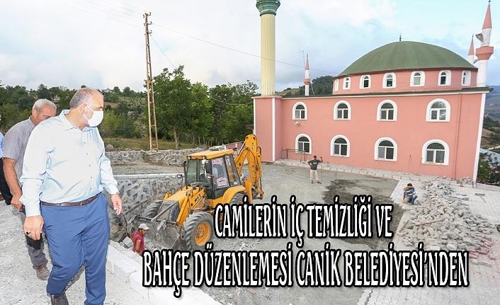 Camilerin iç temizliği ve bahçe düzenlemesi Canik Belediyesi'nden