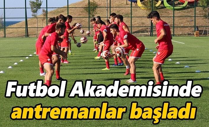 Futbol Akademisinde antremanlar başladı