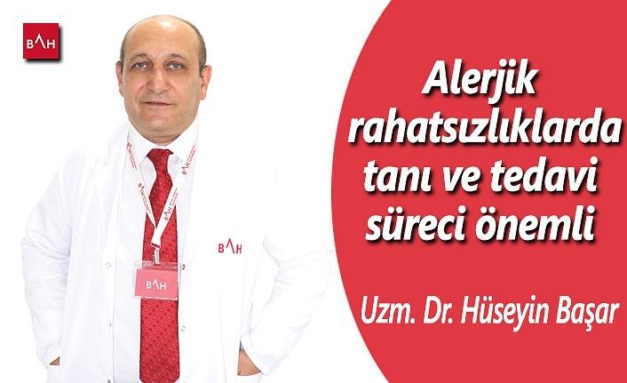 Alerjik rahatsızlıklarda tanı ve tedavi süreci önemli