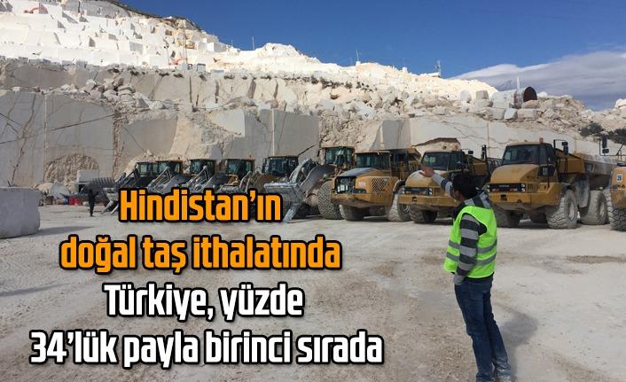 Hindistan'ın doğal taş ithalatında Türkiye, yüzde 34'lük payla birinci sırada