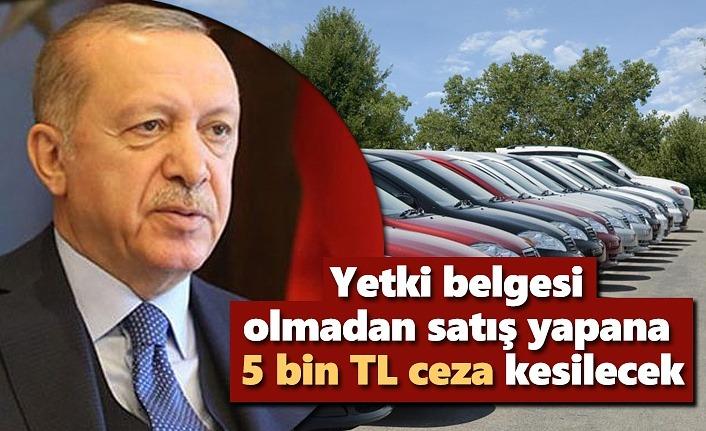 İkinci el araç düzenlemesi Cumhurbaşkanı Erdoğan'a sunuldu