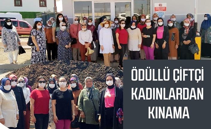 Ödüllü Çiftçi Kadınlardan Kınama