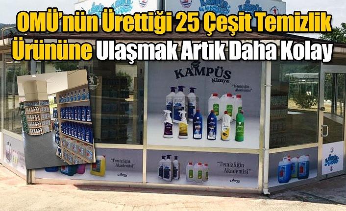 OMÜ Kampüs Kimya Market'te 25 çeşit temizlik ürünü satılıyor