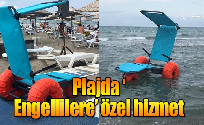 Plajda 'Engellilere' özel hizmet