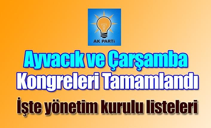 AK Parti Ayvacık ve Çarşamba Kongreleri Tamamlandı