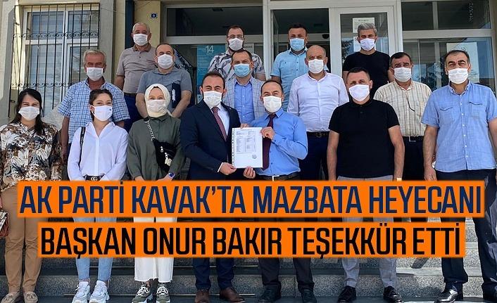 AK Parti Kavak İlçe Mazbatası'nı aldı, Başkan Bakır'dan teşekkür