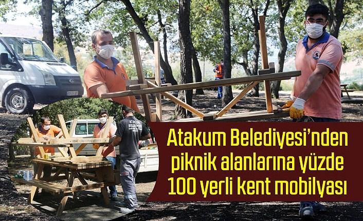 Atakum Belediyesi'nden piknik alanlarına kent mobilyası