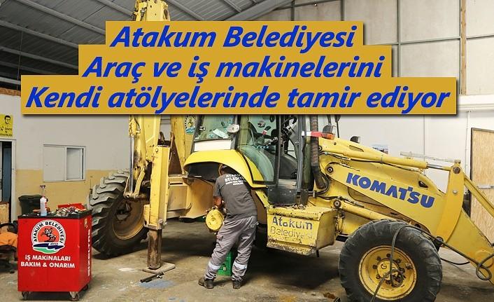 Atakum Belediyesi'nde bakım-onarım atölyeleri ile tasarruf