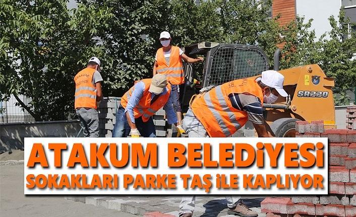 Atakum Belediyesi'nden  55 bin  metrekare kilitli taş parke