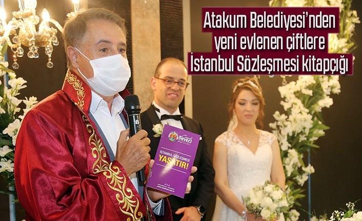 Atakum'da 'evet' diyen çiftlere İstanbul Sözleşmesi kitapçığı