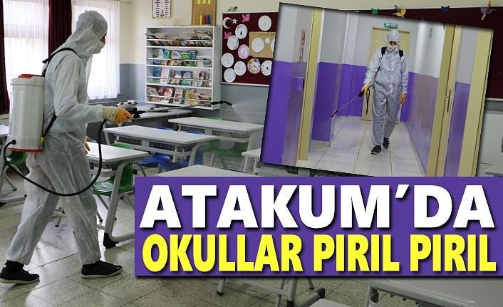 Atakum'da ilk ders zili öncesinde okullar dezenfekte edildi