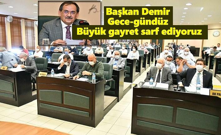 Başkan Demir : Gece-gündüz büyük gayret sarf ediyoruz