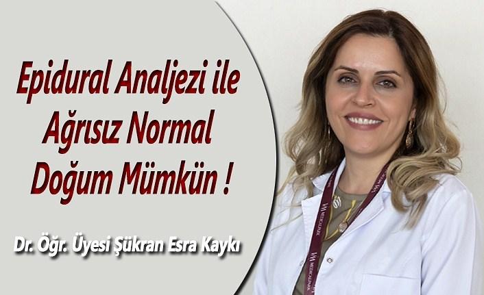 Epidural Analjezi ile Ağrısız Normal Doğum Mümkün!