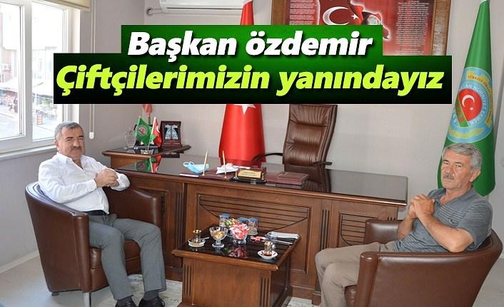 Başkan Özdemir, Belediye olarak çiftçilerimizin yanındayız