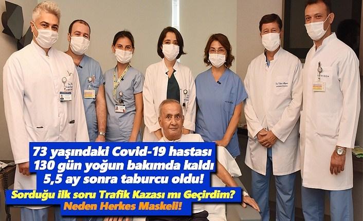 Koronavirüs hastası 5,5 ay sonra taburcu oldu,ilk sorduğu soru Neden Herkes Maskeli!