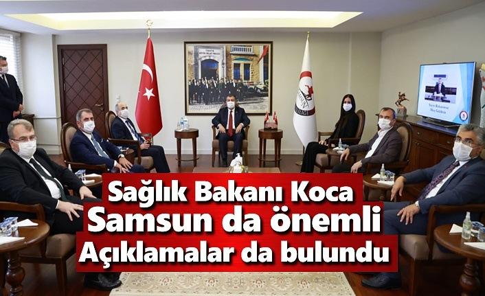 Sağlık Bakanı Koca Samsun da önemli açıklamalar da bulundu