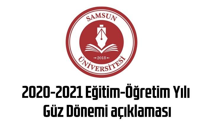 Samsun Üniversitesi'nden Güz Dönemi açıklaması