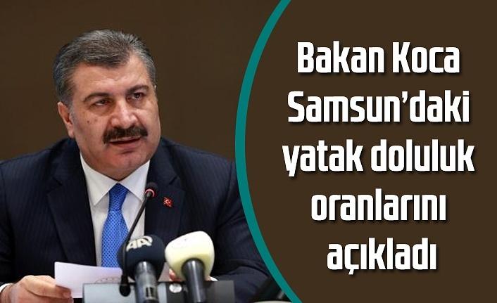 Bakan Koca Samsun'daki yoğun bakım yatak doluluk oranını açıkladı