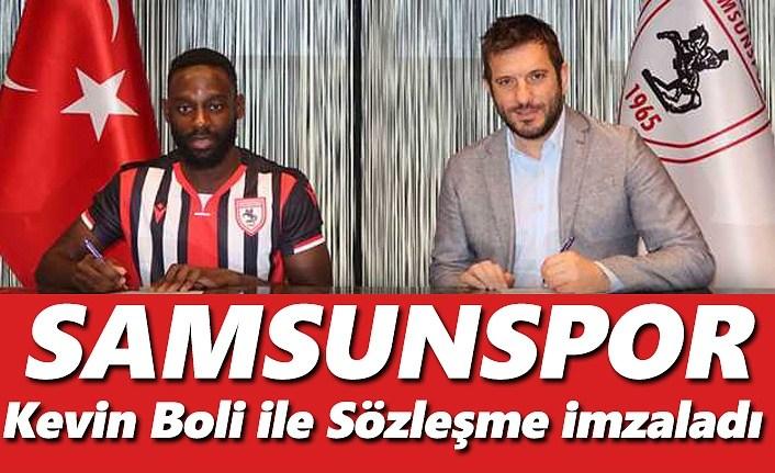 Samsunspor Kevin Boli ile sözleşme imzaladı