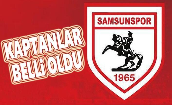 Samsunspor'un kaptanları belli oldu
