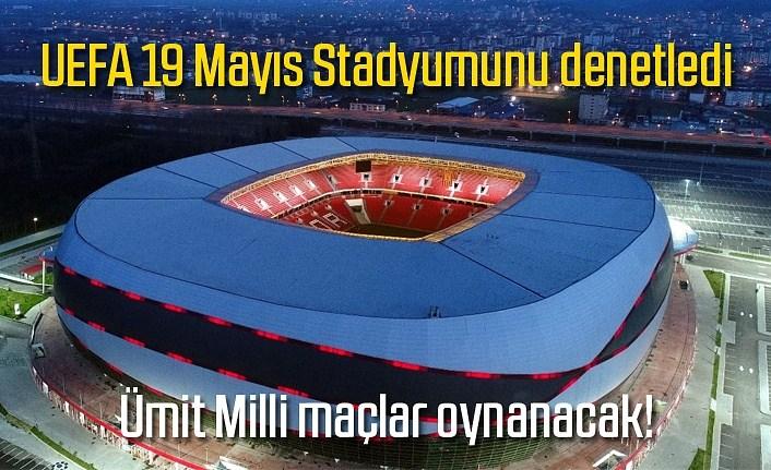 UEFA Samsun 19 Mayıs Stadyumunu denetledi