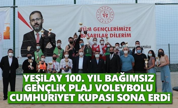 100.yıl Bağımsız Gençlik Plaj Voleybolu Cumhuriyet Kupası Sona Erdi