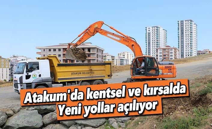 Atakum'da kentsel ve kırsalda yeni yollar açılıyor