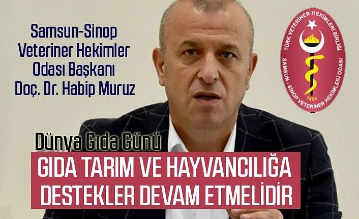 Başkan Muruz: Türkiye gıda sektörü üretim ve tedarikinde sıkıntı yaşamadı