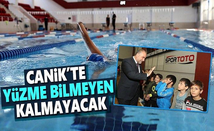 Canikli Çocuklar Servislerle Havuza Taşınacak
