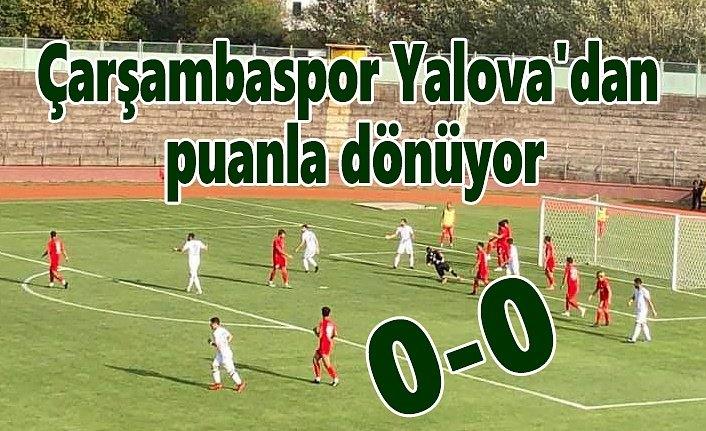 Çarşambaspor Yalovaspor maç sonucu: 0-0