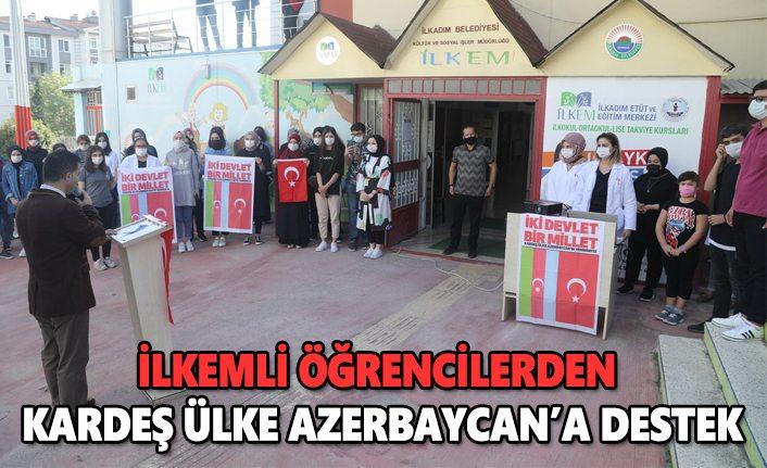 İlkemli öğrencileri kardeş ülke Azerbaycan'a destek