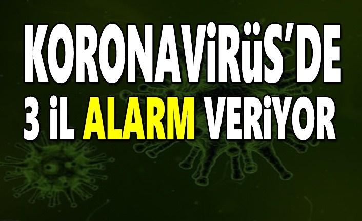 Koronovirüs  3 ilde alarm veriyor
