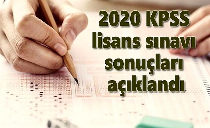 KPSS lisans 2020 sınavı sonuçları açıklandı