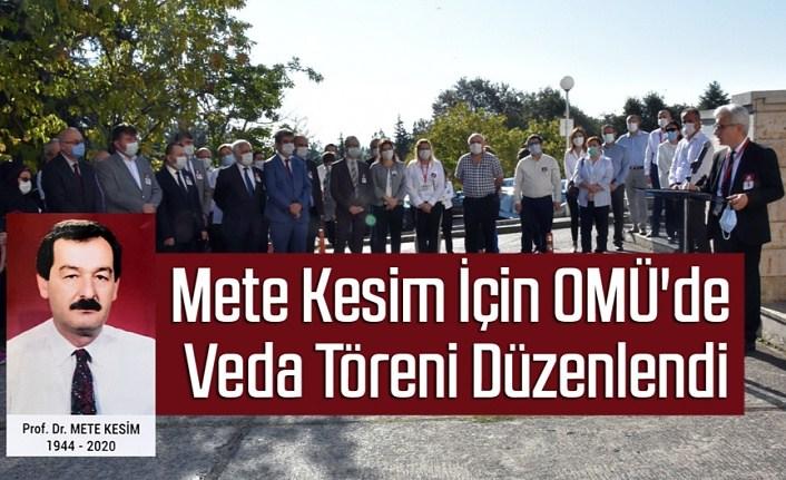 Prof. Dr. Mete Kesim İçin OMÜ'de Veda Töreni Düzenlendi