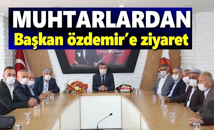 Muhtarlardan Başkan Özdemir'e ziyaret