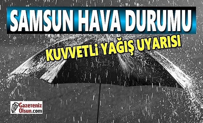 Samsun'a sağanak yağış uyarısı, 21 Ekim Samsun Hava Durumu