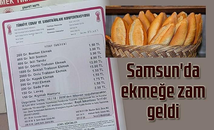 Samsun'da ekmeğe zam geldi! yeni tarife açıklandı