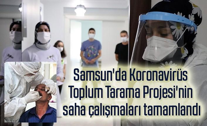Samsun'da proje kapsamında 520 kişiye Elisa ve PCR testi