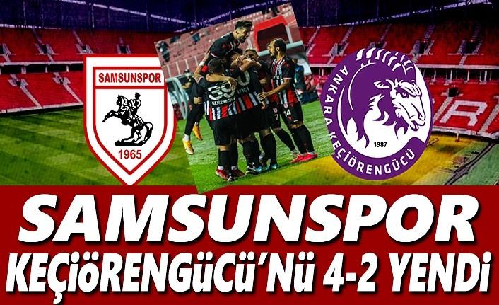 Samsunspor – Keçiörengücü maçı 4-2 Bitti